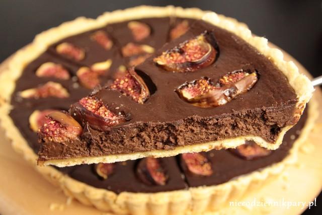 tarta czekoladowa z figami