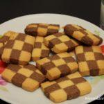 Czekoladowo-waniliowe kruche ciasteczka