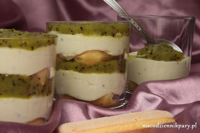 Tiramisu o smaku kiwi