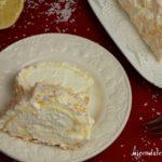 Rolada bezowa z lemon curd