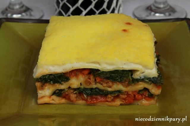 lasagne ze szpinakiem i jarmużem
