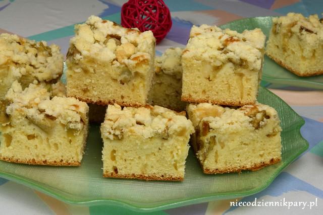 Ciasto Jogurtowe Z Rabarbarem I Kruszonka Niecodziennik Pary