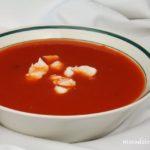 Zupa z pieczonej papryki i pomidorów