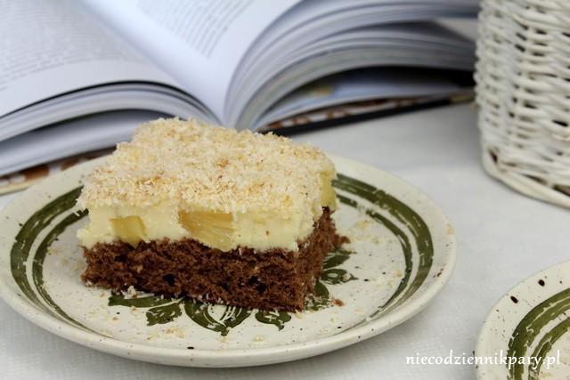 ananasowiec na czekoladowym spodzie