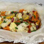Dorsz pieczony z warzywami