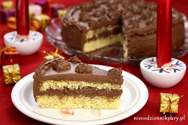 tort kokosowy z kremem czekoladowo-kawowym
