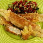 Szparagi smażone z szynką i serem