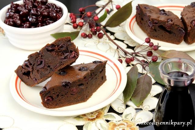 brownie z wiśniami